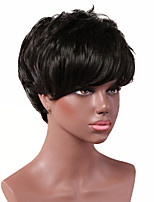 cheap -Synthetic Wig Curly Short Bob Wig Short Black Synthetic Hair Women's Party Fashion Comfy Black