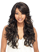 cheap -Synthetic Wig Curly Side Part Wig Medium Length Black / Brown Synthetic Hair Women's Cosplay Party Fashion Black Brown