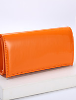 cheap -Women's Bags PU Leather Polyester Evening Bag Chain Solid Color Plain Party Wedding 2021 Handbags Chain Bag Black Blue Yellow Orange