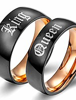 cheap -xahh matching set couple ring king queen titanium steel black matte promise wedding band,rose gold men size 7