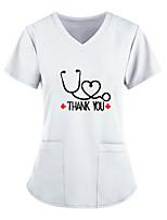 cheap -Women's T shirt Plain V Neck Tops Basic Basic Top White Blue Wine