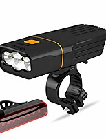 cheap -usb rechargeable bike light front, super bright 3 led 3000 lumens, runtime 10hrs waterproof bicycle headlight and taillight, free bike tail light, cycling safety flashlight