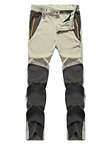 cheap -Men's Hiking Pants Trousers Patchwork Summer Outdoor Waterproof Quick Dry Breathable Stretchy Nylon Pants / Trousers Black Yellow Army Green Dark Green Grey Hunting Fishing Climbing L XL XXL XXXL 4XL