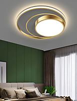cheap -50 cm Circle LED Ceiling Light Flush Mount Lights Black Gold Metal LED Nordic Style 110-120V 220-240V