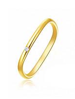 cheap -Couple Rings Cubic Zirconia Classic Gold Alloy Mini Simple Trendy Korean 1pc 7 / Women's / Couple's