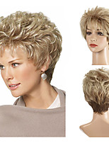 cheap -Synthetic Wig Curly Short Bob Wig Short Light Blonde Synthetic Hair Women's Party Fashion Comfy Blonde