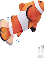 cheap -Stuffed Animal Plush Toy Flopping Wiggle Fish Realistic Interactive Cotton / Polyester Imaginative Play, Stocking, Great Birthday Gifts Party Favor Supplies Boys and Girls Kid's Adults'