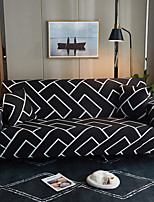 cheap -Black Brick Print Dustproof All-powerful Slipcovers Stretch Sofa Cover Super Soft Fabric Couch Cover with One Free Pillow Case