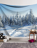 cheap -Wall Tapestry Art Decor Blanket Curtain Hanging Home Bedroom Living Room Decoration Polyester Snow Forest
