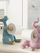 cheap -Cute Elephant Storage Tissue Rack Ornaments Living Room Desktop Paper Roll Holder Resin Kitchen Napkin Rack