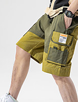 """cheap -Men's Hiking Shorts Solid Color Summer Outdoor 12"""" Regular Fit Breathable Soft Comfortable Wear Resistance Cotton Shorts Army Green Khaki Hunting Fishing Climbing M L XL XXL XXXL"""