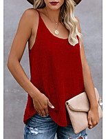 cheap -Women's Knitted Solid Color Vest Sleeveless Sweater Cardigans Crew Neck Fall Winter White Black Blue