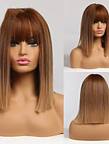 cheap -Synthetic Wig Straight Middle Part Neat Bang Wig Short A7 Synthetic Hair Women's Cosplay Party Fashion Blonde Brown