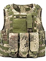 cheap -Hiking Vest / Gilet Fishing Vest Military Tactical Vest Summer Outdoor Quick Dry Lightweight Breathable Sweat wicking Jacket Top Climbing Camping / Hiking / Caving Mud Color CP camouflage ACU
