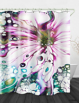 cheap -Colorful Mudslide Print Waterproof Fabric Shower Curtain for Bathroom Home Decor Covered Bathtub Curtains Liner Includes with Hooks