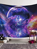 cheap -Wall Tapestry Art Decor Blanket Curtain Hanging Home Bedroom Living Room  Polyester Colourful Star Astronaut