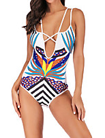 cheap -Women's One Piece Swimsuit Swimwear Bodysuit Breathable Quick Dry Sleeveless Swimming Surfing Water Sports Summer / Plus Size