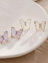 cheap -Women's Stud Earrings Monogram Precious Stylish Simple Earrings Jewelry White / Purple For Gift Date