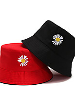 cheap -Women's Fisherman Hat 1 PCS Outdoor Portable Sunscreen Breathable Soft Hat Solid Color Polyester / Cotton Blend Light Yellow Black / Red Black / Yellow for Fishing Climbing Beach