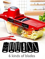 cheap -Vegetable Cutter Multifunction with Steel Blade Mandoline Slicer Potato Peeler Carrot Cheese Grater Kitchen Accessories Tools