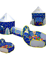 cheap -Play Tent & Tunnel Playhouse Crawl Tunnel Toy Teepee Castle Space 3 in 1 Foldable Convenient Polyester Gift Indoor Outdoor Party Favor Festival Fall Spring Summer 3 years+ Boys and Girls Pop Up