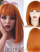 cheap -Synthetic Wig Natural Straight Bob Neat Bang Wig 12 inch A1 A2 A3 A4 Synthetic Hair Women's Cosplay Party Fashion Black Pink