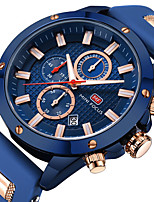 cheap -Men's Dress Watch Analog Quartz Stylish Calendar / date / day Noctilucent / One Year / Silicone
