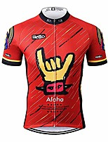 cheap -sports mens aloha red mountain bike short sleeve cycling jersey bike tshirt 4x-large