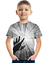 cheap -Kids Boys' Tee Short Sleeve Graphic Children Tops Active Gray