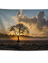 cheap -Wall Tapestry Art Decor Blanket Curtain Hanging Home Bedroom Living Room Decoration Polyester Lonely Tree Sunset Landscape
