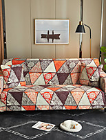 cheap -The Geometric Print Dustproof Stretch Slipcovers Stretch Sofa Cover Super Soft Fabric Couch Cover Fit For 1 to 4 Cushion Couch and L Shape Sofa (You will Get 1 Throw Pillow Case as free Gift)