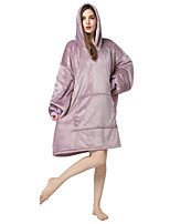 cheap -Adults' Kigurumi Pajamas Anime Onesie Pajamas Flannel Fabric Dusty Rose Cosplay For Men and Women Animal Sleepwear Cartoon Festival / Holiday Costumes