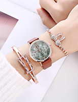 cheap -Women's Quartz Watches Analog Quartz Stylish Minimalist Creative Large Dial / PU Leather