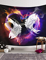 cheap -Wall Tapestry Art Decor Blanket Curtain Hanging Home Bedroom Living Room Colourful Polyester Fish