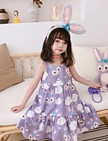 cheap -mdd2021 spring and summer new girl baby cartoon full print dress cute western style suspender skirt
