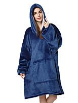 cheap -Adults' Kigurumi Pajamas Anime Onesie Pajamas Flannel Fabric Ink Blue Cosplay For Men and Women Animal Sleepwear Cartoon Festival / Holiday Costumes