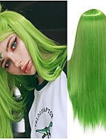 cheap -Synthetic Wig Natural Straight Middle Part Wig Medium Length A15 A16 A17 A18 A19 Synthetic Hair Women's Cosplay Party Fashion Green
