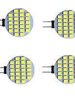 cheap -4pcs 2 W LED Bi-pin Lights 280 lm G4 24 LED Beads SMD 2835 Warm White White 9-30 V