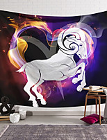 cheap -Wall Tapestry Art Decor Blanket Curtain Hanging Home Bedroom Living Room Colourful Polyester Horse