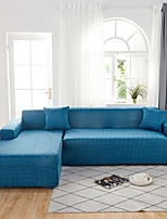 cheap -Sofa Cover Contracted Color Blue Print Dustproof Stretch  Super Soft Fabric L Shape Sofa (You will Get 1 Throw Pillow Case as free Gift)
