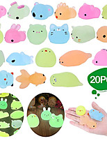 cheap -Squishy Squishies Squishy Toy Squeeze Toy / Sensory Toy 20 pcs Mini Animal Stress and Anxiety Relief Kawaii Mochi For Kid's Adults' Boys and Girls