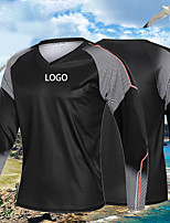 cheap -Men's Fishing Shirt Outdoor UPF50+ Quick Dry Lightweight Breathable Top Spring Summer Athleisure Fishing Camping & Hiking Black / Long Sleeve / Stretchy