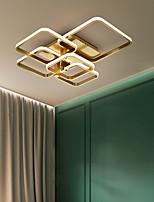 cheap -3/5 Heads LED Ceiling Light Square Design Gold Geometric Shapes Flush Mount Lights Copper Brass LED Nordic Style 220-240V