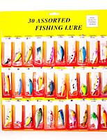 cheap -30 pcs Fishing Lures Hard Bait Minnow Crank Popper Vibration / VIB lifelike 3D Eyes Bass Trout Pike Lure Fishing