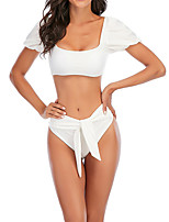 cheap -Women's Tankini Swimwear Breathable Quick Dry Short Sleeve 2 Piece - Swimming Surfing Water Sports Summer