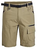 "cheap -Men's Hiking Shorts Solid Color Summer Outdoor 10"" Regular Fit Multi-Pockets Breathable Soft Comfortable Nylon Shorts Black Grey Khaki Green Hunting Fishing Climbing S M L XL XXL"