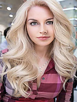 cheap -Synthetic Wig Curly Side Part Wig Medium Length Light Blonde Synthetic Hair Women's Cosplay Party Fashion Blonde