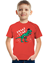 cheap -Kids Boys' Tee Short Sleeve Graphic Animal Children Tops Active Red