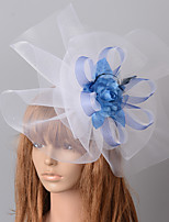 cheap -Elegant & Luxurious Retro Tulle Fascinators with Feather / Floral 1 Piece Special Occasion / Party / Evening Headpiece