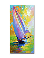 cheap -Oil Painting Hand Painted Vertical Abstract Still Life Modern Stretched Canvas